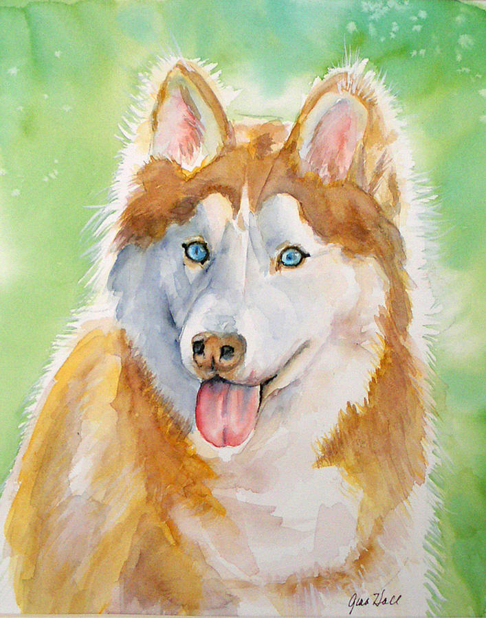 Canine Painting - Baby Blue by Gina Hall