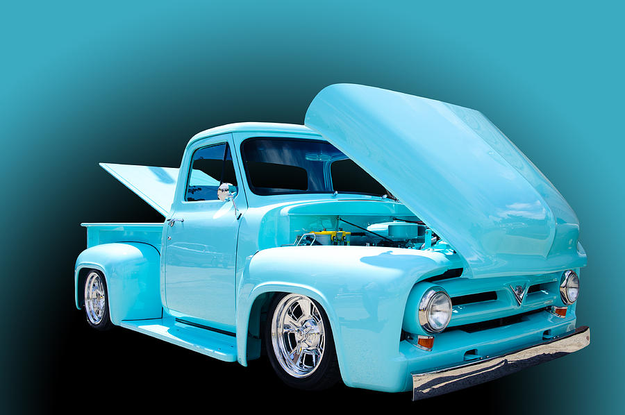Pickup Photograph - Baby Blue by Jim  Hatch