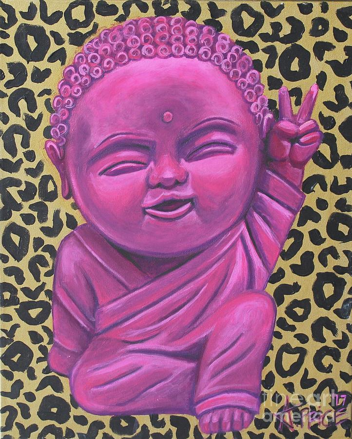 Baby Buddha 2 Painting by Ashley Lane