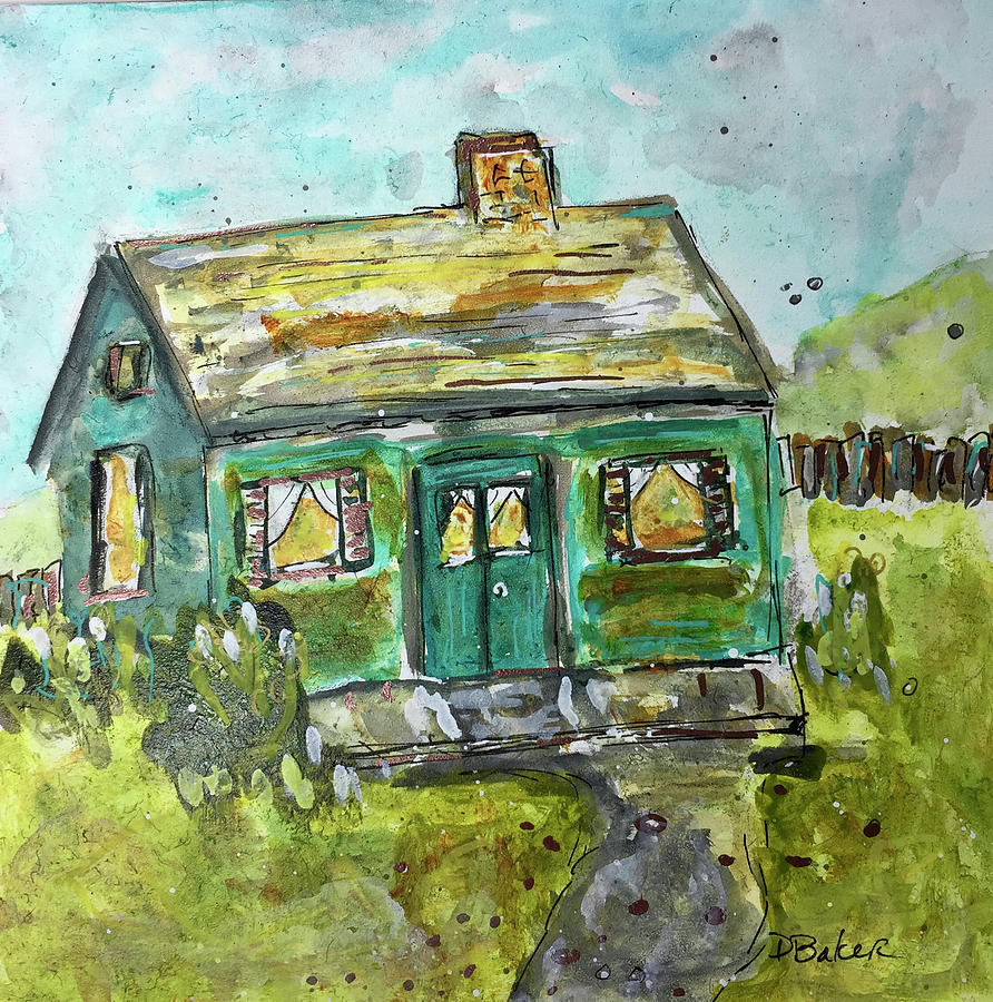 House Painting - Baby Bungalow by Dolores Baker