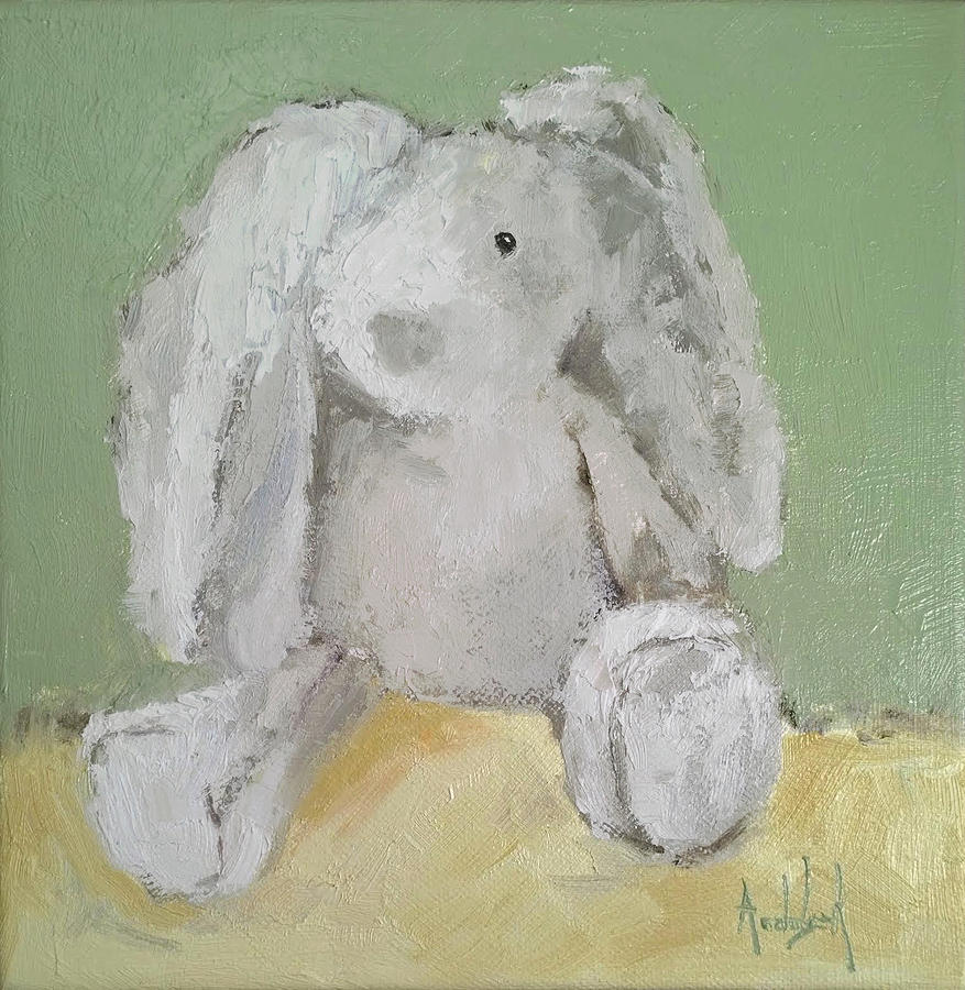 Bunny Painting - Baby Bunny by Barbara Andolsek
