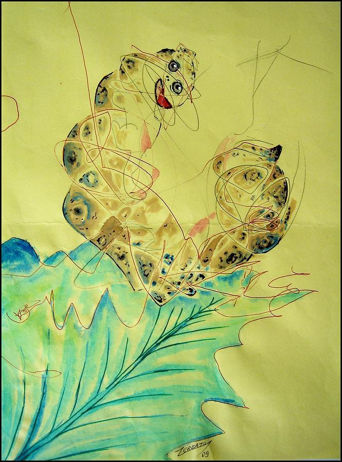 Infantile Digital Art - Baby Caterpillar by Paulo Zerbato