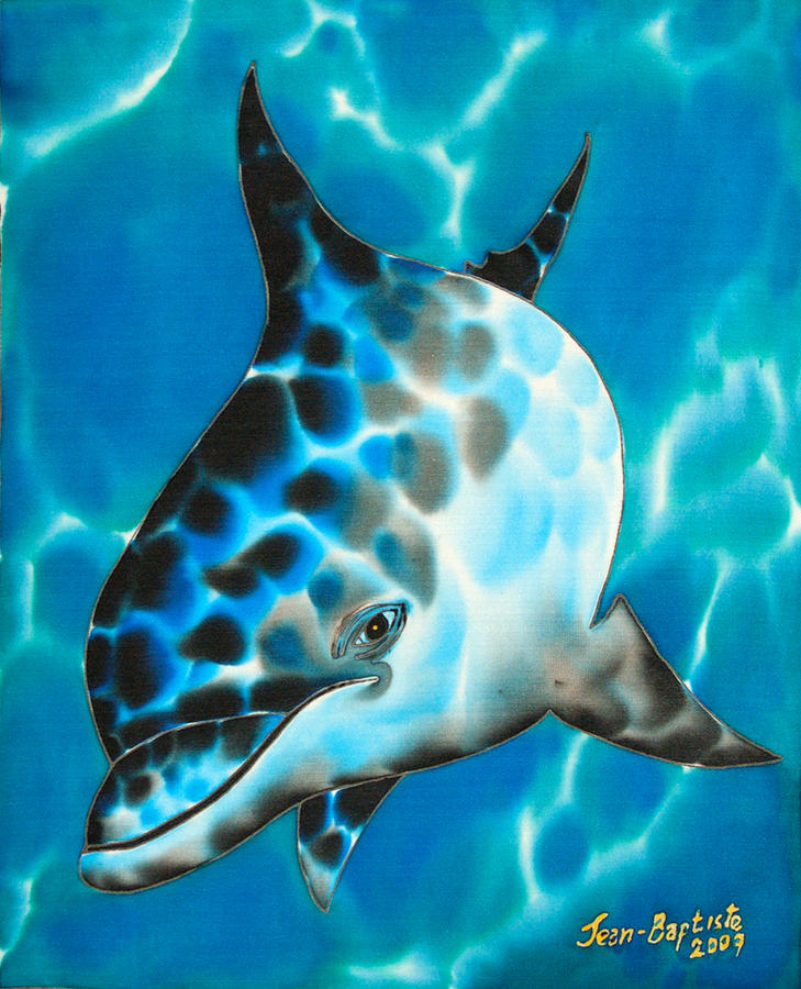 Dolphin Painting Painting - Baby by Daniel Jean-Baptiste
