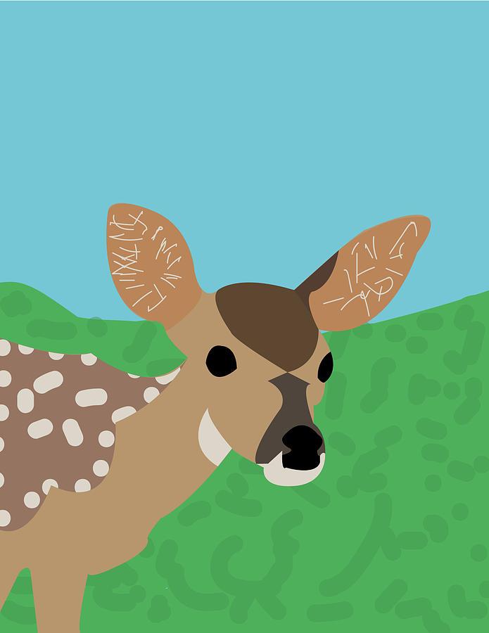 Baby Deer Spanky by Caroline Elgin