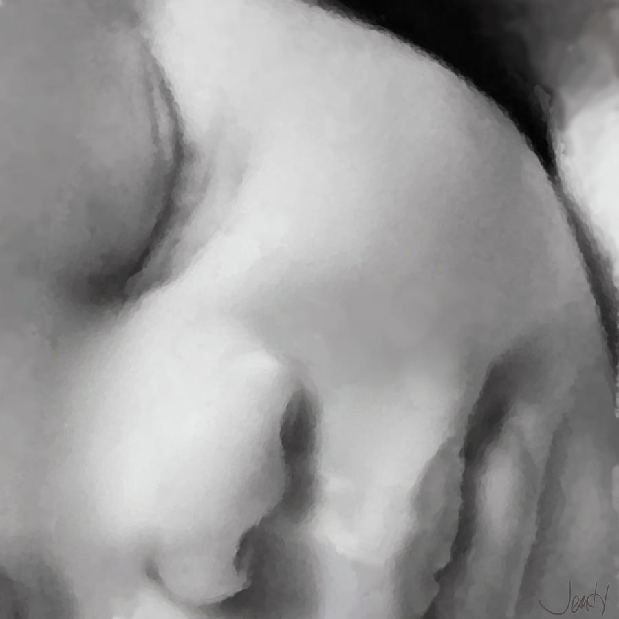 Baby Painting - Baby Dreams by Jennifer Hickey