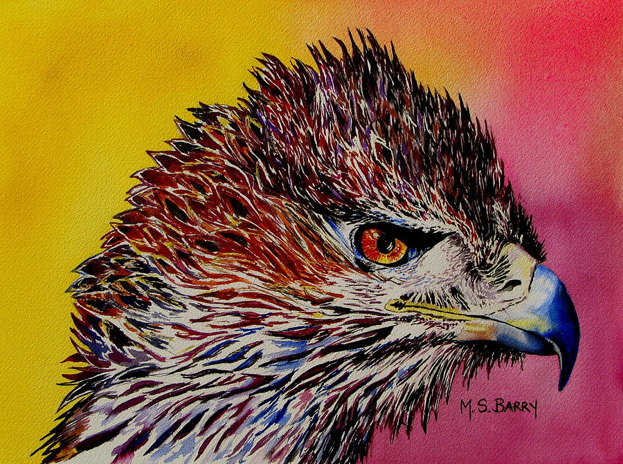 Eagle Painting - Baby Eagle by Maria Barry