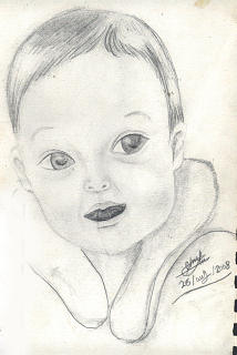 Smile Drawing - Baby by Ebrahim Metwaly