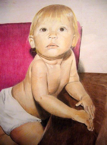 Baby Drawing - Baby Fabio by Fabio Turini