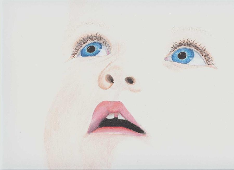 Baby drawing baby face by marianthisart doukakis haertel