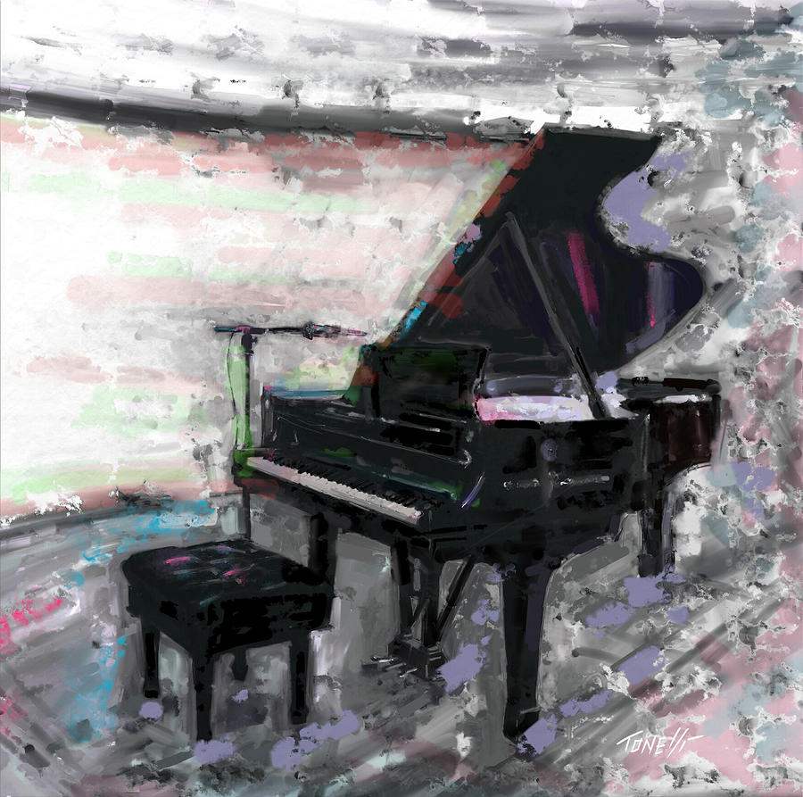 Piano Music, Baby Grand Mixed Media