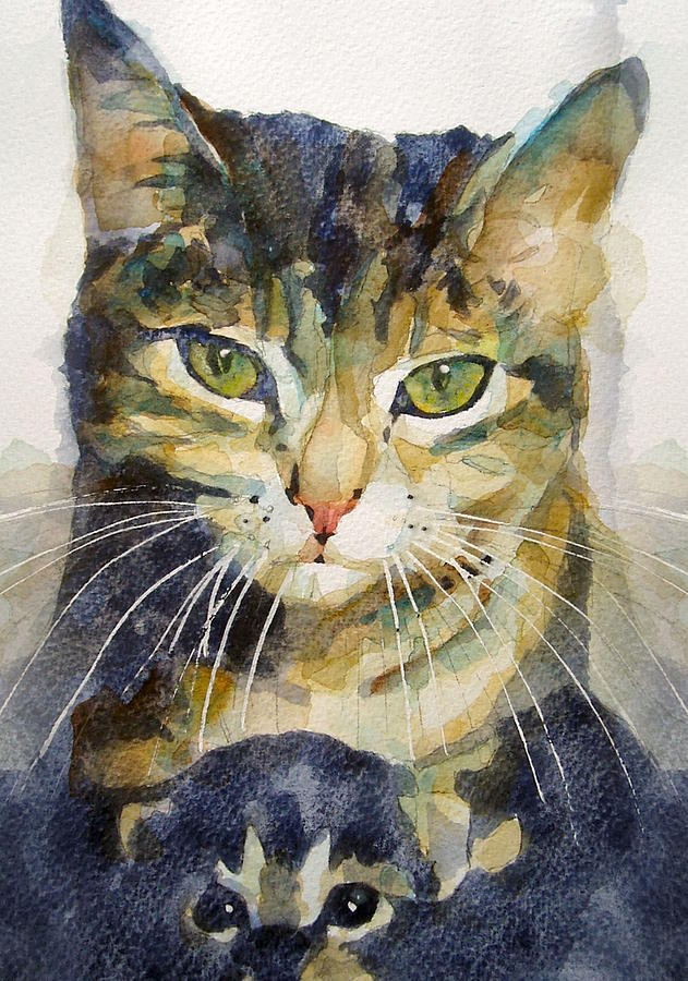 Kittens Painting - Baby I Love You  by Paul Lovering