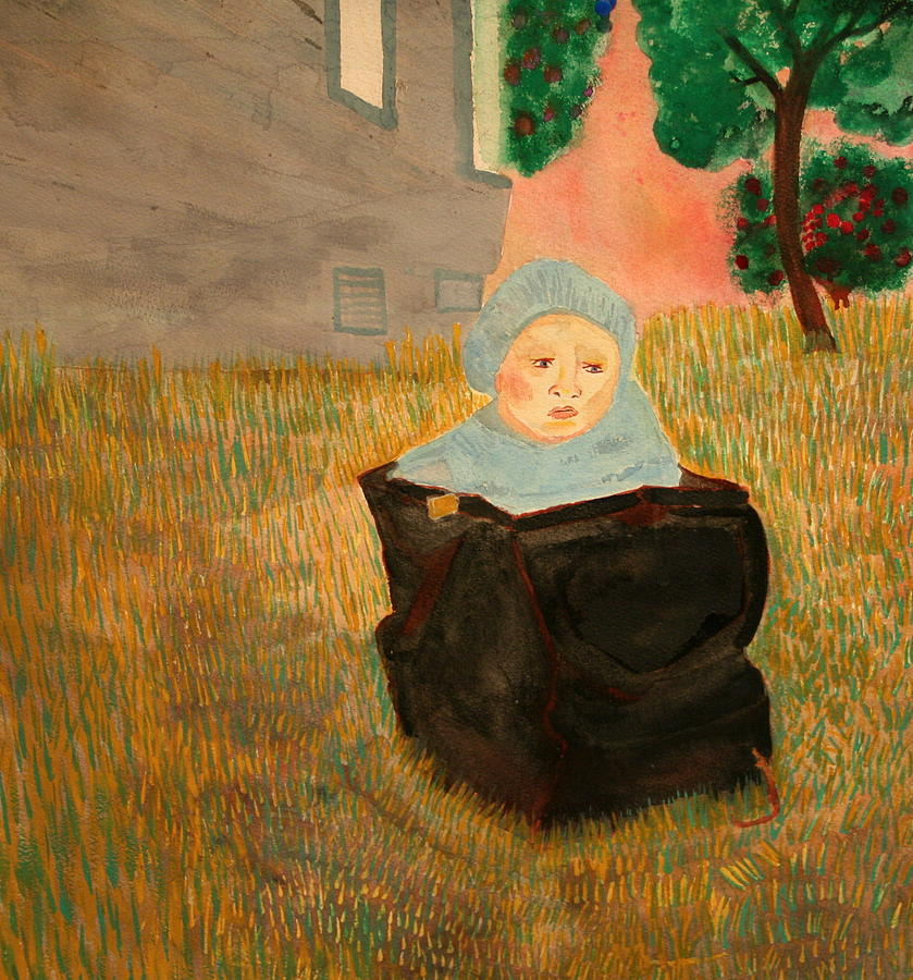 Baby In A Bag Painting by Shellie Gustafson