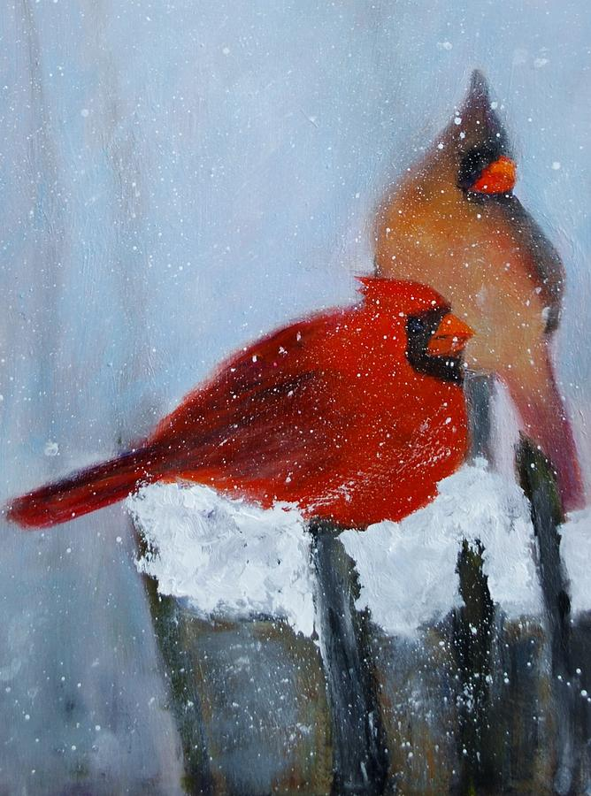 Baby Its Cold Outside Painting by Ann Simons