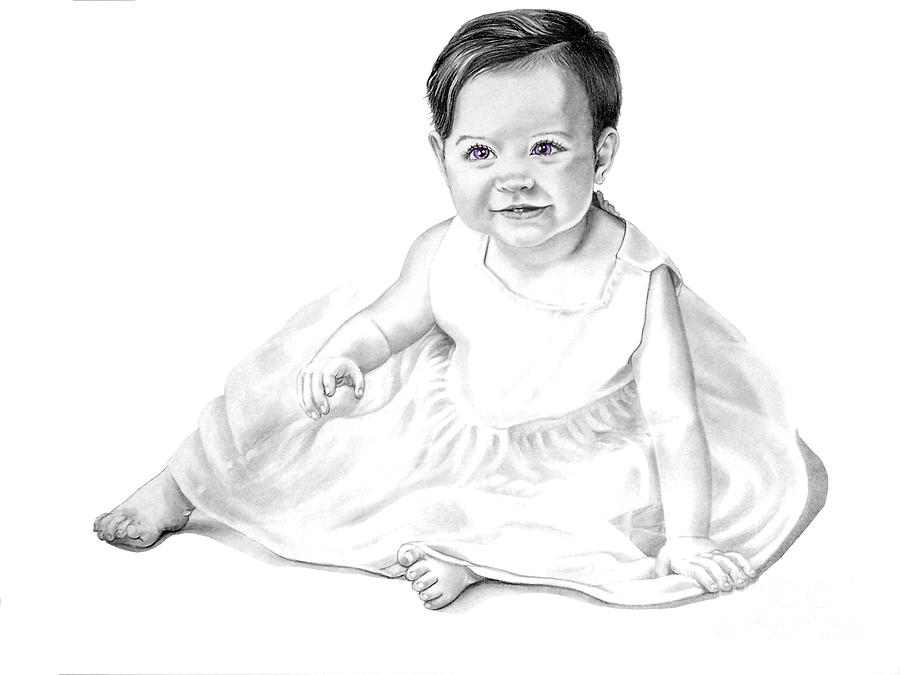 Baby Drawing - Baby Jane by Murphy Elliott