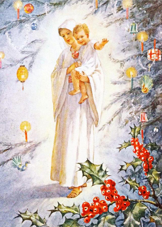 Baby Jesus Christmas Tree Photograph by Munir Alawi
