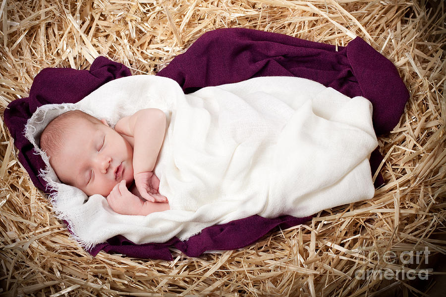 Nativity Photograph - Baby Jesus Nativity by Cindy Singleton