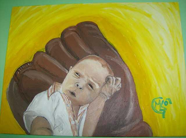 Baby Painting - Baby Prtrait by Michaela Gilt
