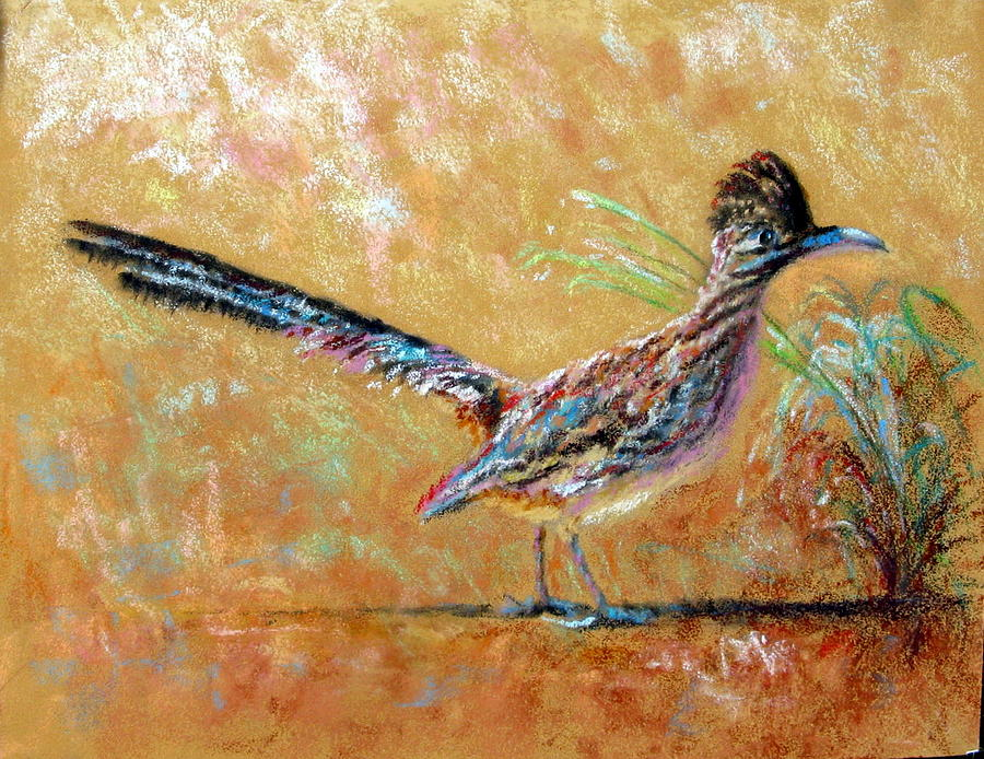 Baby Roadrunner Painting By Shirley Leswick