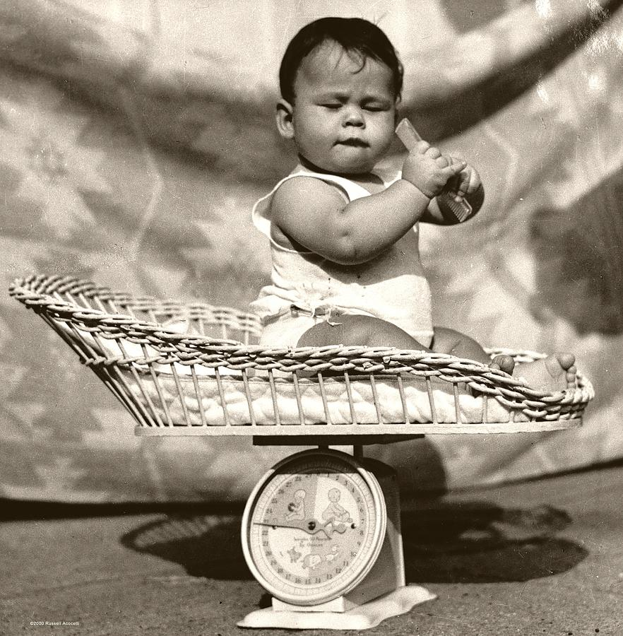 Baby Photograph - Baby Scale by Daniel Napoli