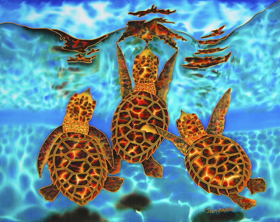 Baby sea turtle art