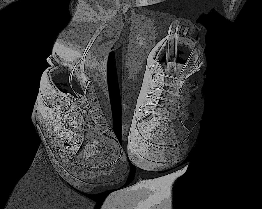 Baby Digital Art - Baby Shoes by Deborah Williams