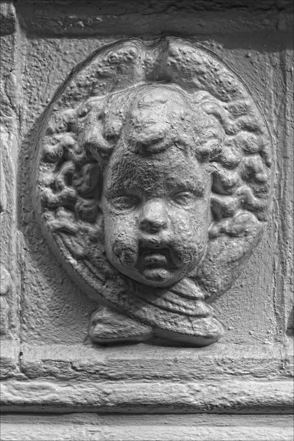Bas Relief Photograph - Baby Stone Face by Robert Ullmann