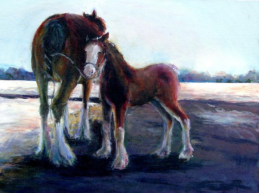 Baby Wont Mind Painting by Kathy Dueker