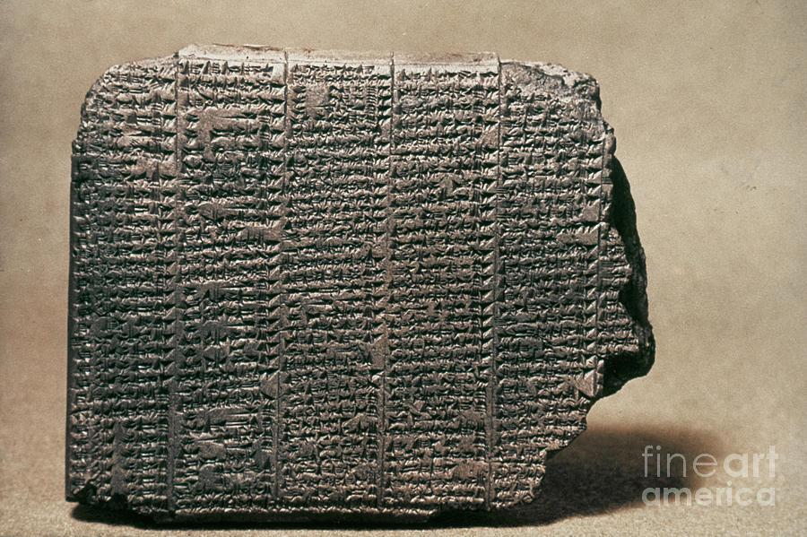 Ancient Photograph - Babylonian Calendar by Granger