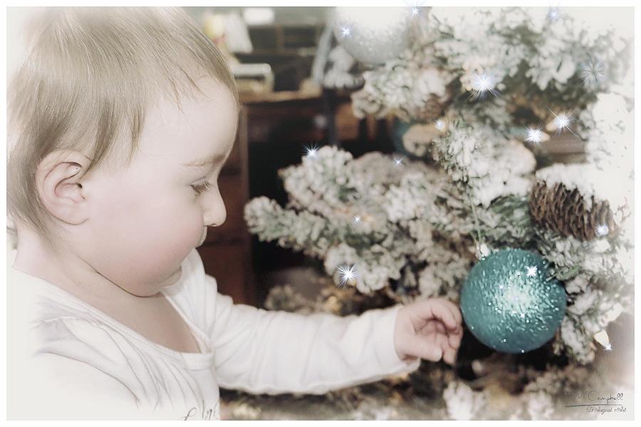 Babys First Christmas Photograph