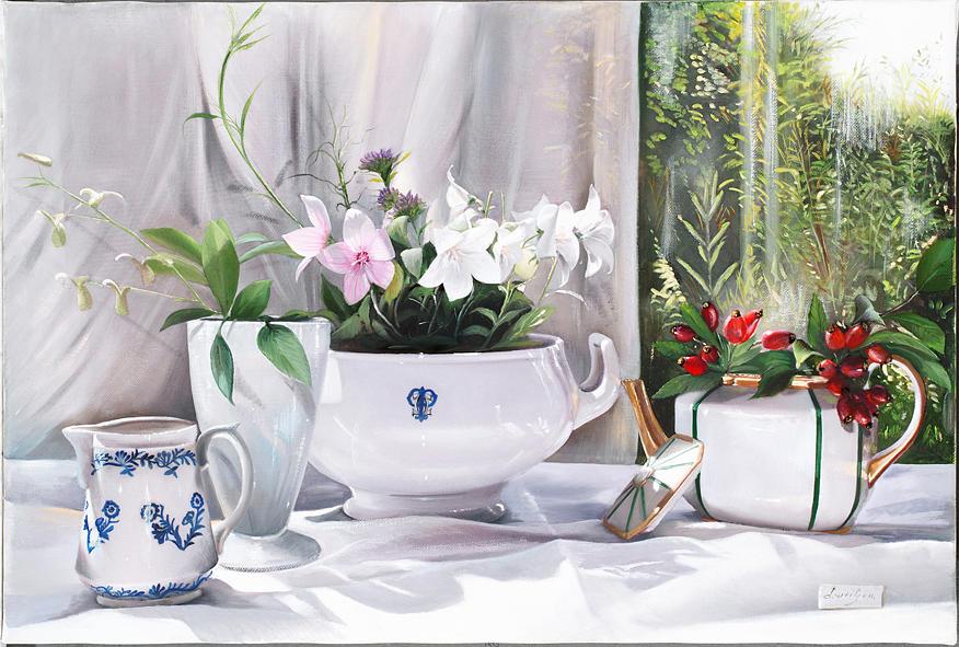 Pottery Painting - Bacche Rosse by Danka Weitzen