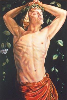 Portrait Painting - Bacchus by Richard Bulman