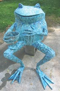 Bacchus Toad Sculpture by Beau Smith