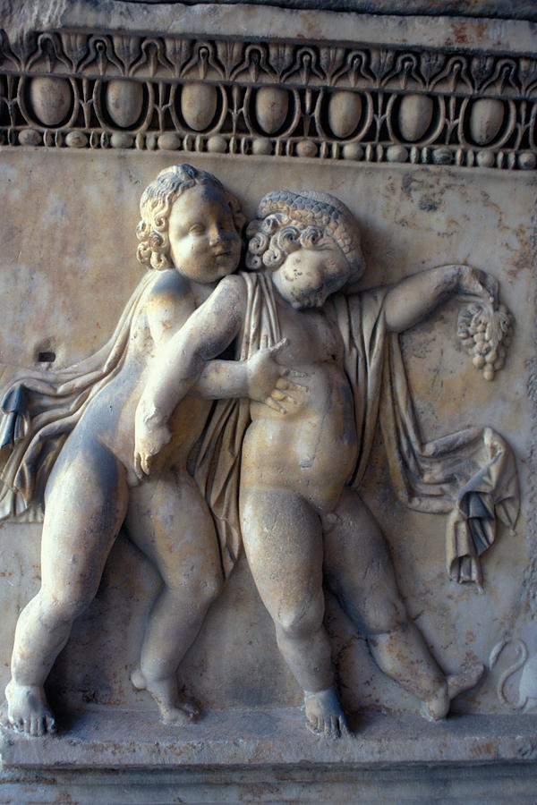 Wine Relief - Bacchus With Friend by Carl Purcell