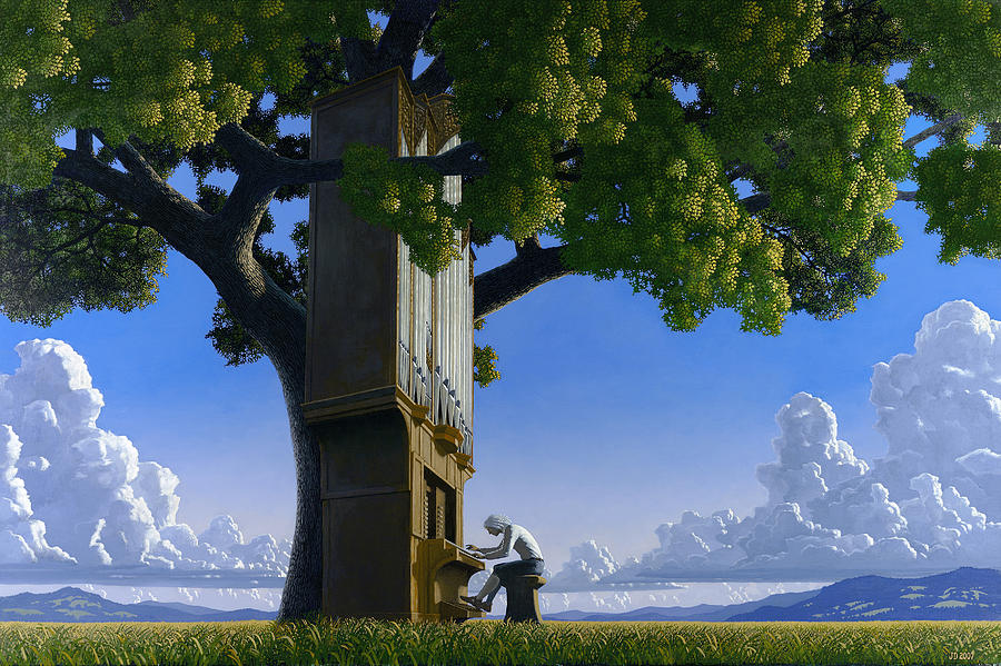 Landscape Painting - Bach In Heaven by Jonathan Day