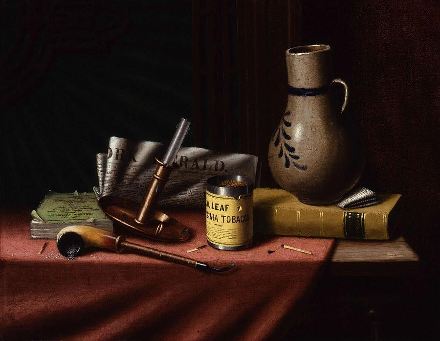 Background Painting - Bachelor S Table By William Michael Harnett by William Michael Harnett