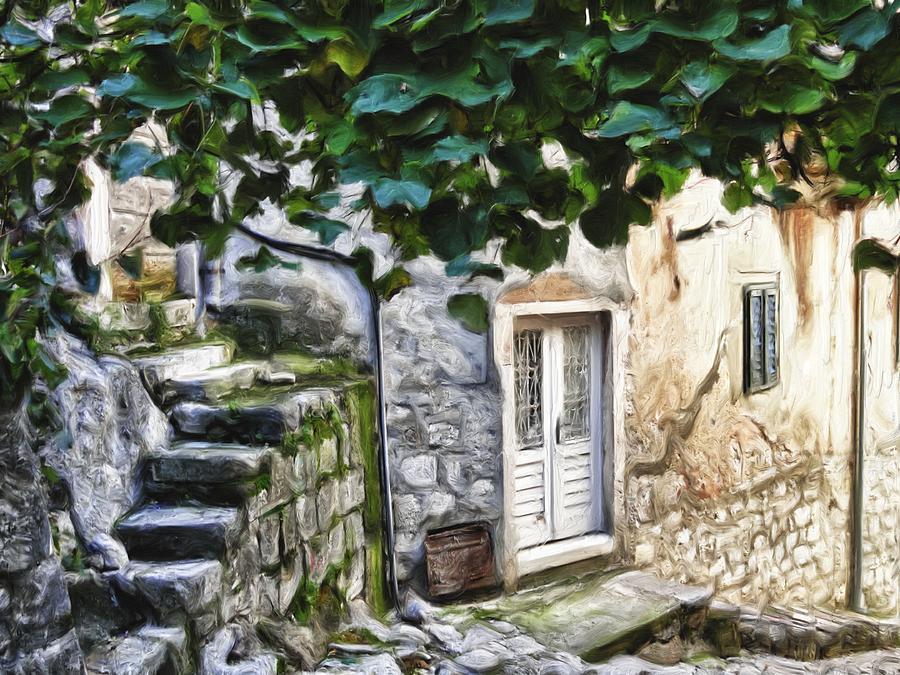 Alley Digital Art - Back Alley Living by Janet Fikar