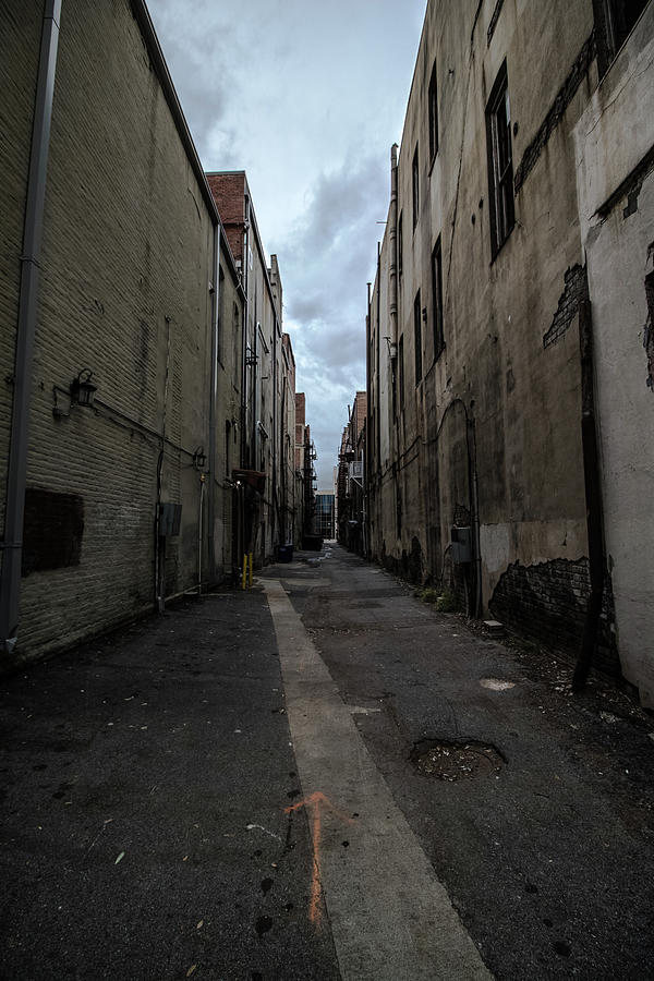 Alley Photograph - Back Alley by Mike Dunn