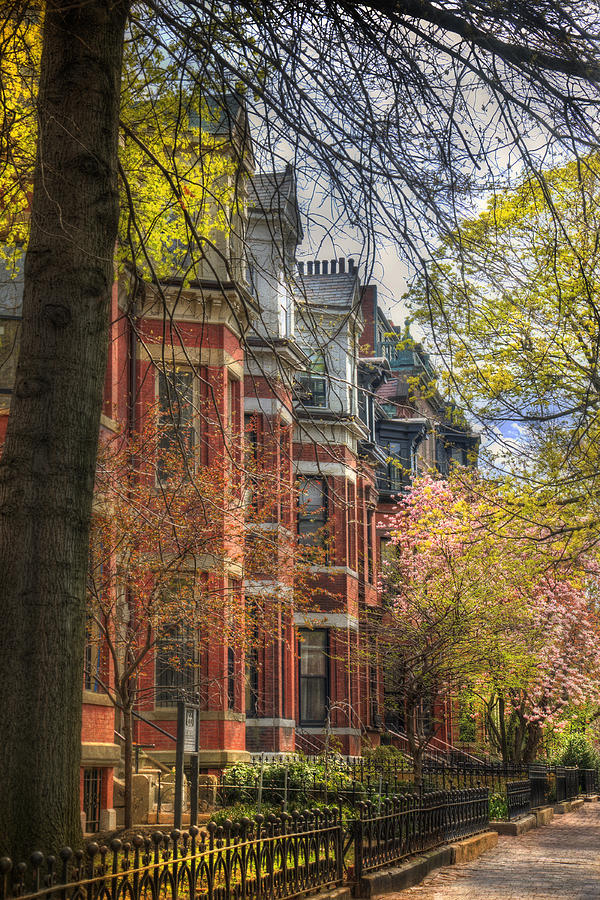 Back Bay Photograph - Back Bay Brownstones In Spring - Boston by Joann Vitali