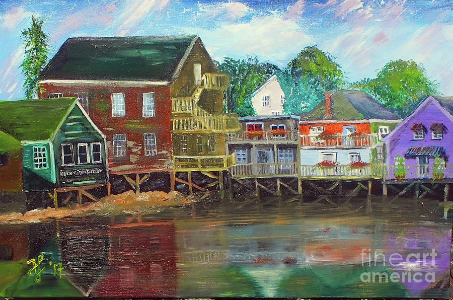 Back Bay Kennebunkport by Francois Lamothe