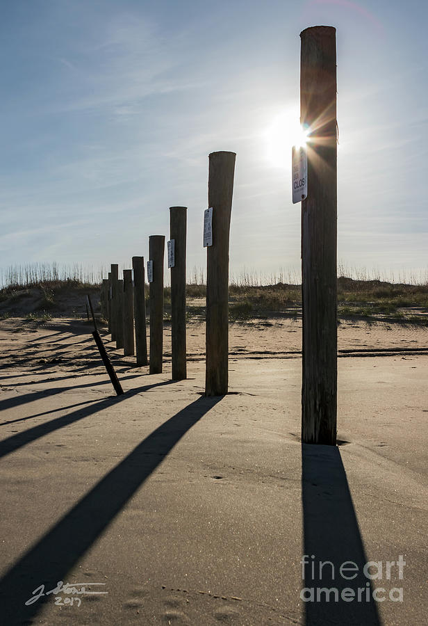 Back Bay Nwr Beach Photograph by Jeffrey Stone