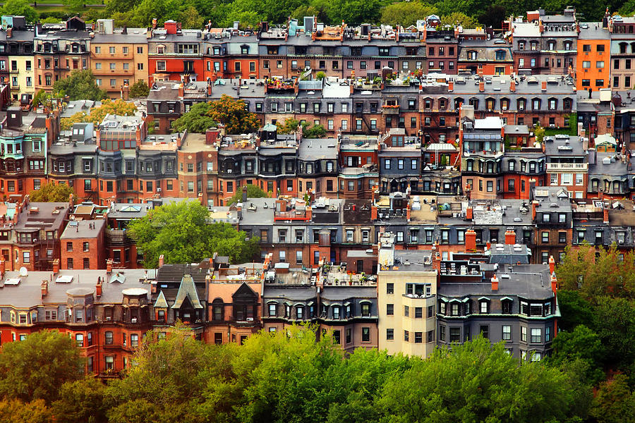 Boston Photograph - Back Bay by Rick Berk