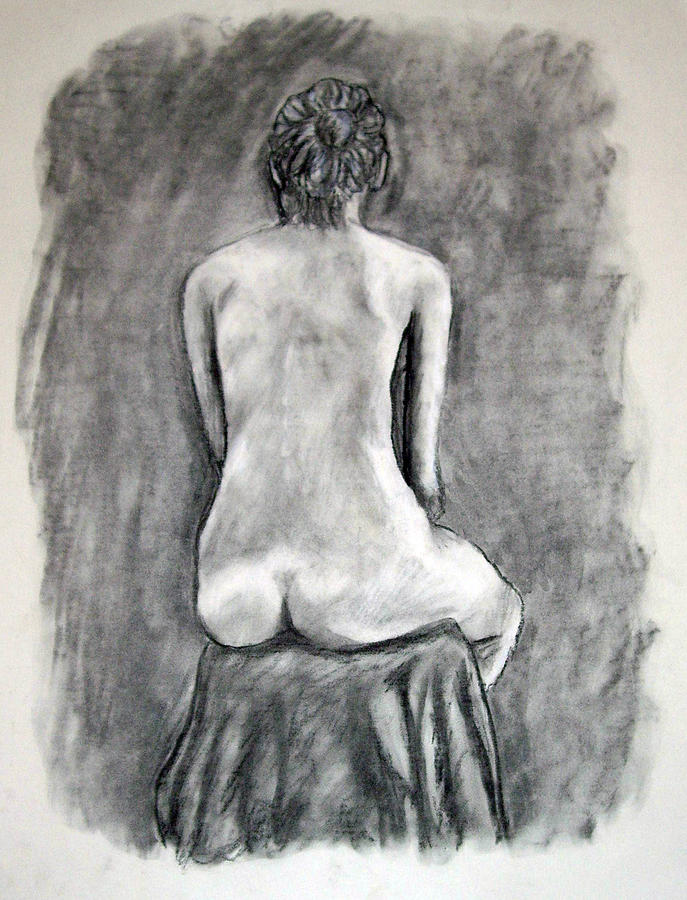 Back Drawing - Back Beauty by Jean Haynes