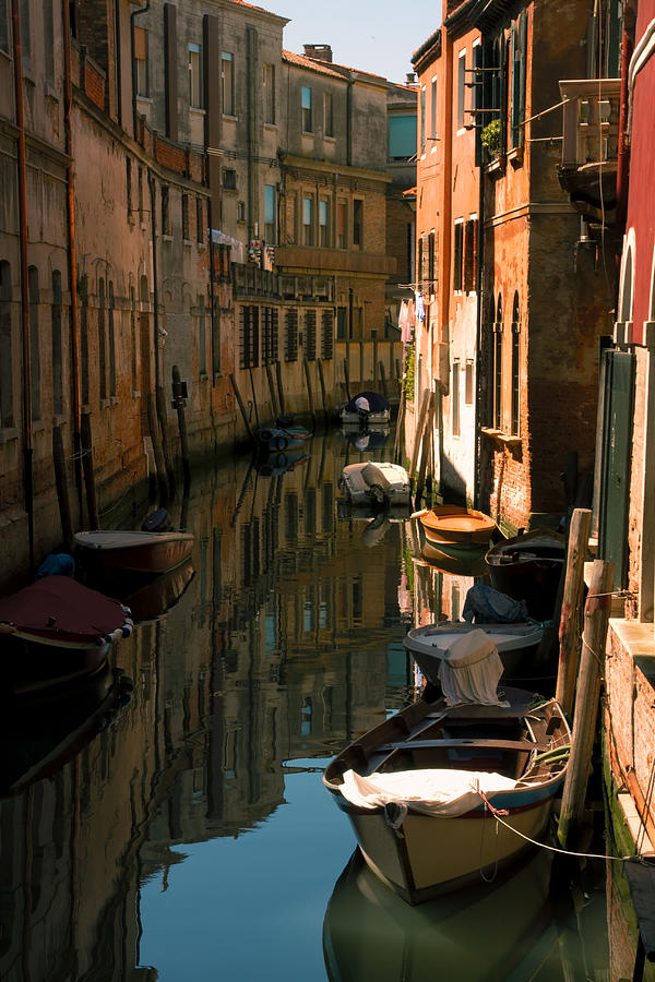 Venice Photograph - Back Canal In Venice by Michael Henderson