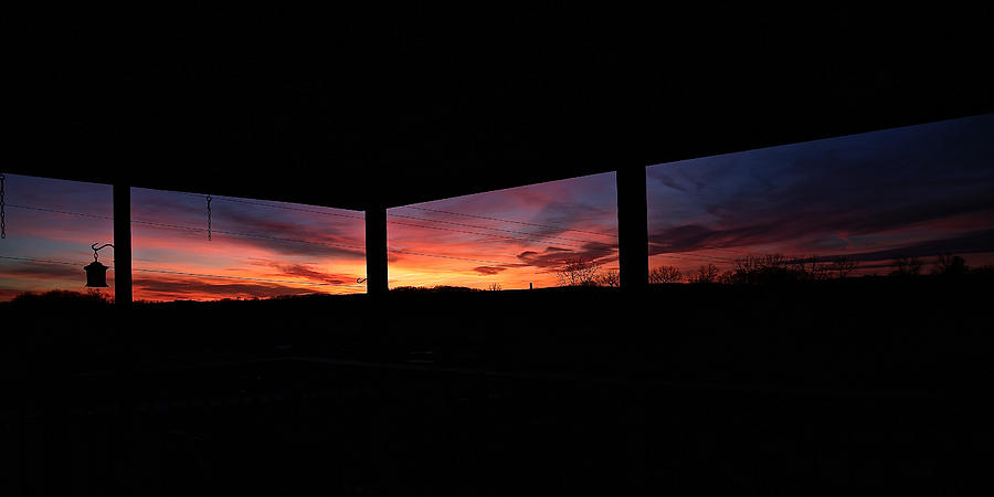 Back Deck Sunset by Donna Quante