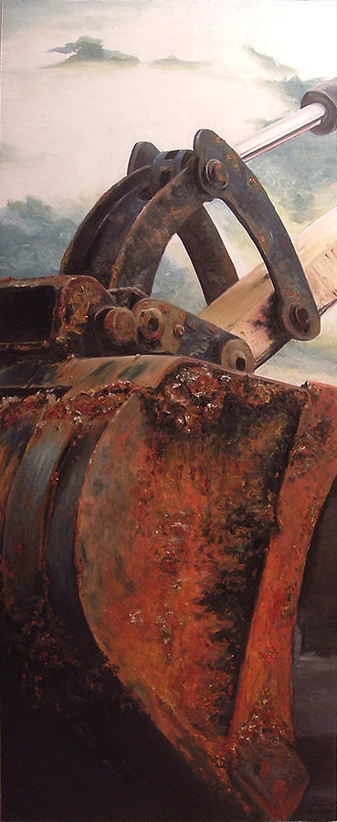 Back Hoe Painting - Back Hoe by Scott Lyle