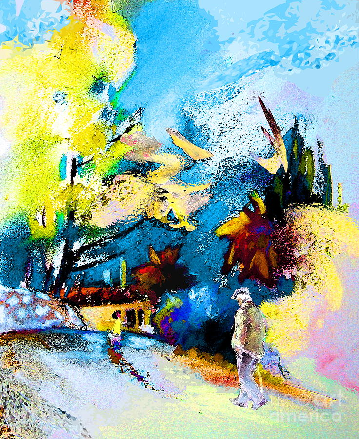 Nature Painting - Back Home by Miki De Goodaboom
