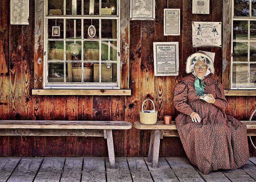Bench Photograph - Back In The Days by Evelina Kremsdorf