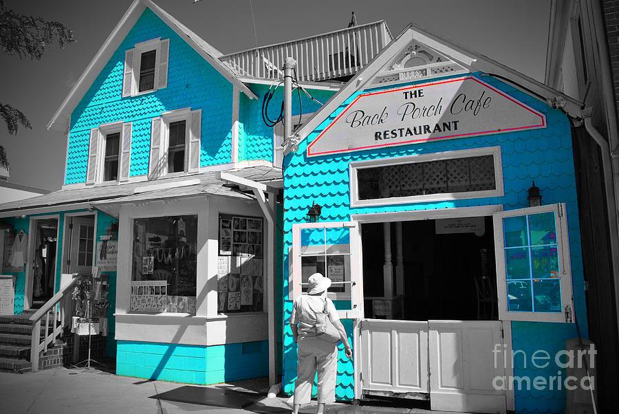 Rehoboth Photograph - Back Porch Cafe by Jost Houk