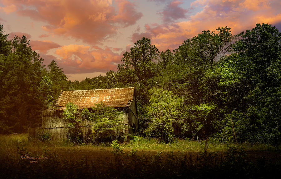 Barn Photograph - Back Road Barn by Marvin Spates