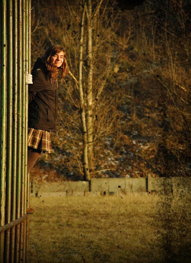 Portrait Photograph - Back To Childhood by Katarzyna Horwat